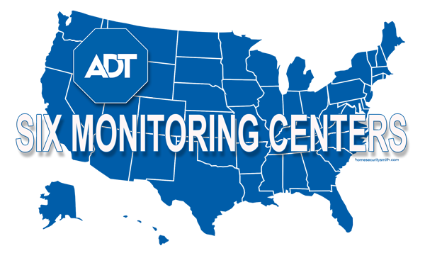 ADT Monitoring centers in the US