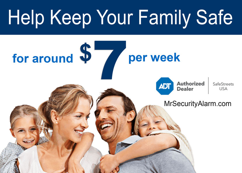 get ADT security for as low as $7 a week