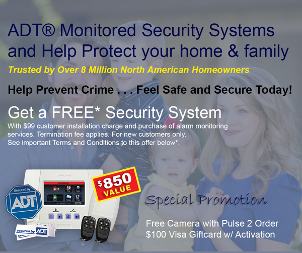 Order ADT Home Security System today