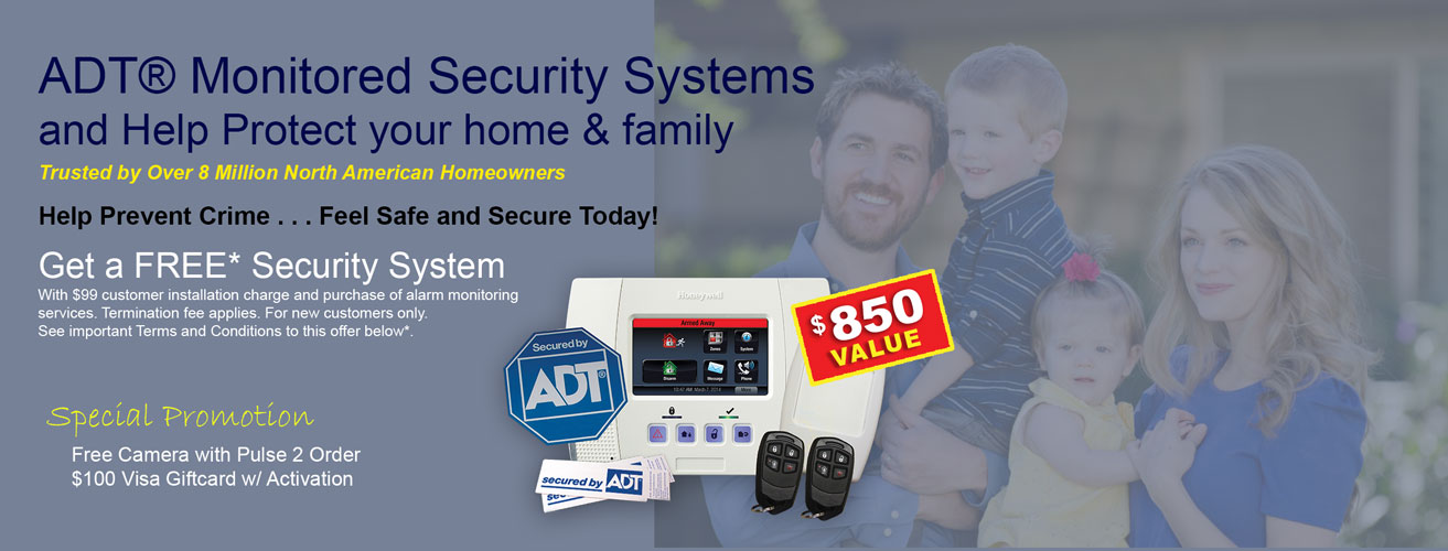 Call now to order ADT security monitoring for your home